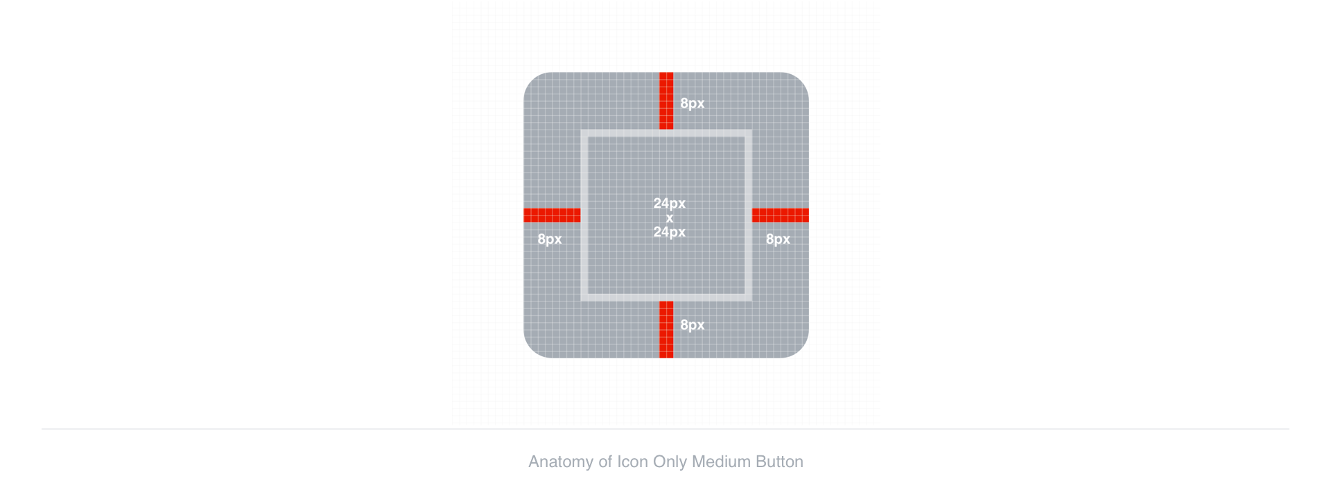 Anatomy of Large Icon Button