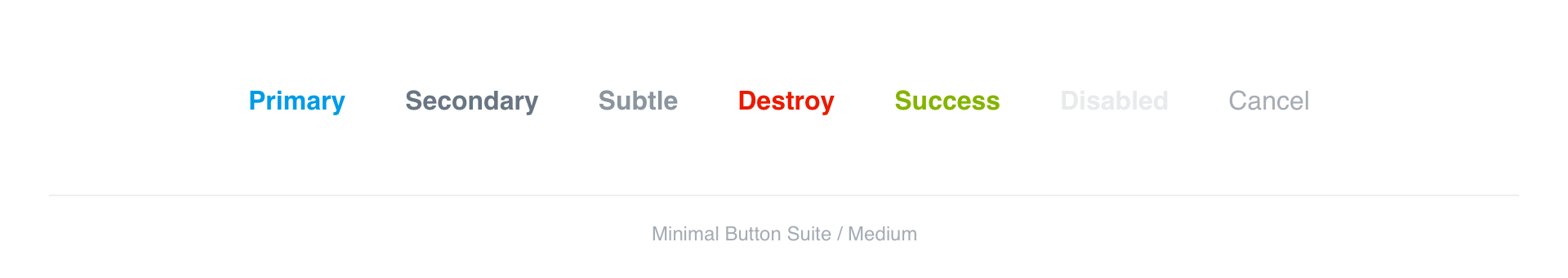 Minimal Buttons