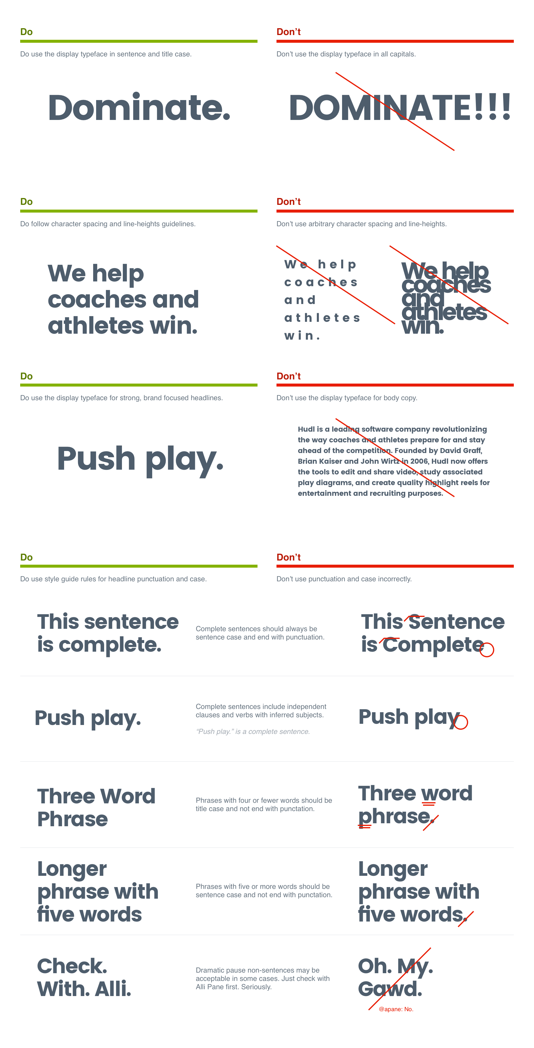 Display Typography Usage Dos and Don'ts